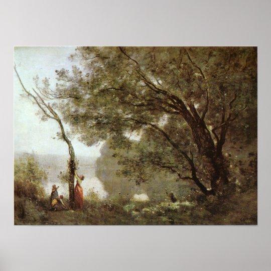 Corot - Souvenir de Mortefontaine Poster