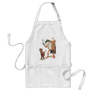 Corporal Waddle Captures the Frogman Adult Apron