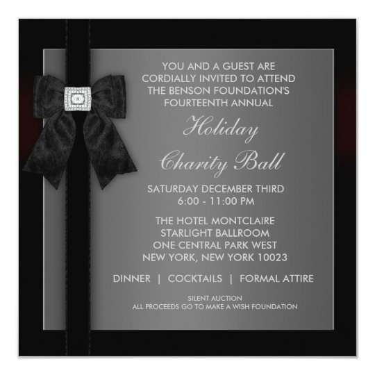 Corporate event invitations announcements zazzle corporate black tie event formal template stopboris
