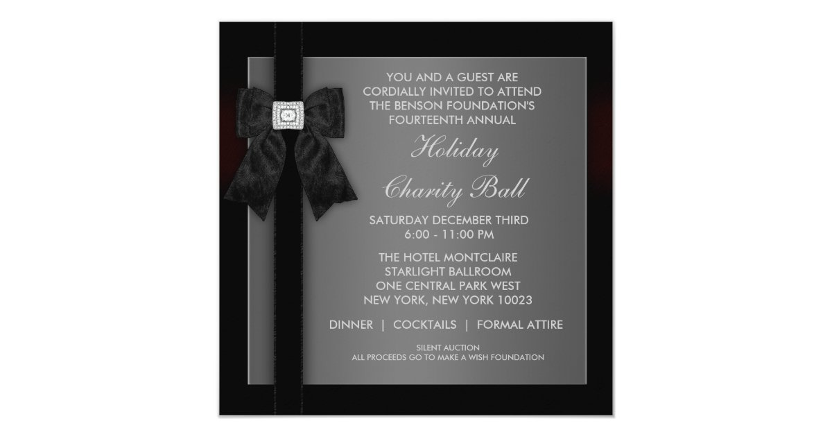 Black Tie Christmas Party Invitations & Announcements | Zazzle.co.uk
