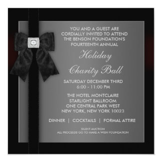 Corporate Black Tie Event Formal Template 13 Cm X 13 Cm Square Invitation Card