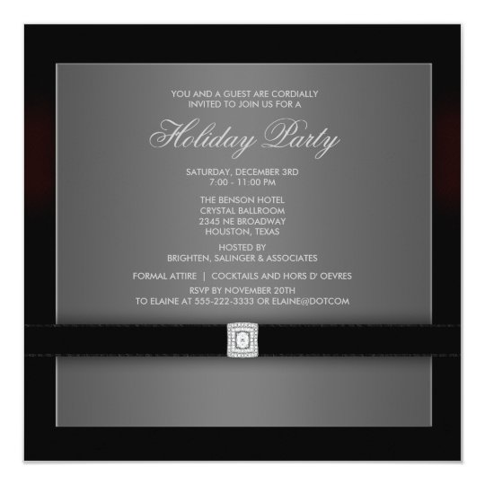 Corporate Black Tie Party Invitation Template
