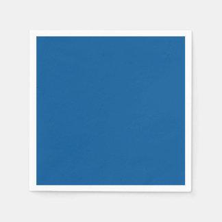 Corporate Blue Personalized Dark Color Background Disposable Napkin