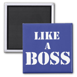 Corporate Boss Square Magnet