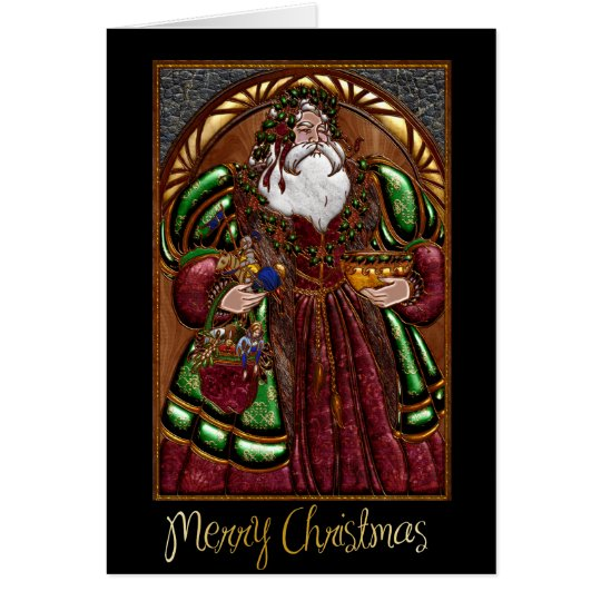 Corporate Business Christmas Card with Santa