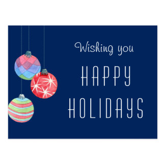 Corporate Business Holiday Greeting Thank You Postcard