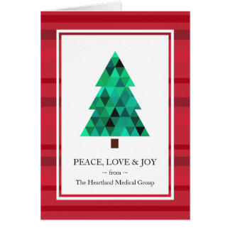 Corporate Business Mod Geometric Holiday Card