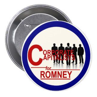 Corporate Capitalists for Romney 7.5 Cm Round Badge