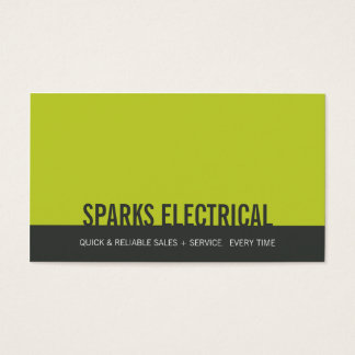 CORPORATE CARD bold block gray lime