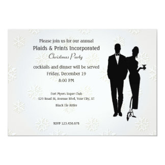 Corporate Christmas Party Black Tie 13 Cm X 18 Cm Invitation Card
