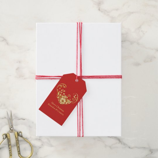 1//10 Luxury White Paper /& Red Foil Christmas Xmas Party Gift Present Bags 24 cm