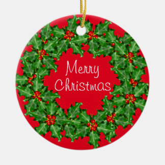 Corporate Christmas Wreath Custom Business Christmas Ornament