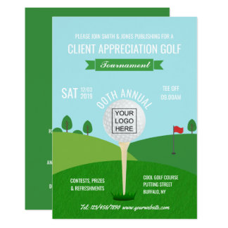 corporate golf invitations announcements. Black Bedroom Furniture Sets. Home Design Ideas