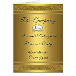 Corporate Dinner Party Add your logo Greeting Card