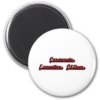 Corporate Executive Officer Classic Job Design 6 Cm Round Magnet