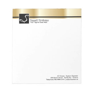 Corporate Gold Notepad