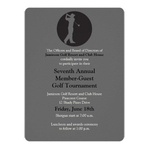 Corporate Golf Tournament Invitation