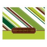 CORPORATE GREETING POSTCARD :: season striped BL1