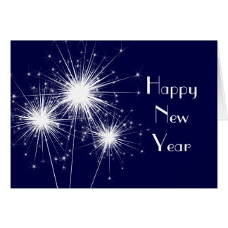 Corporate Happy New Year Card in blue