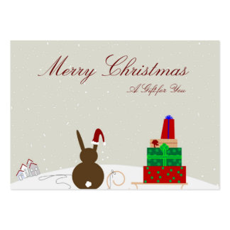 Corporate Holiday Gift Certificates Business Card Template