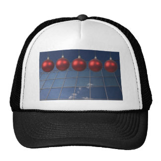 corporate holiday greetings mesh hat