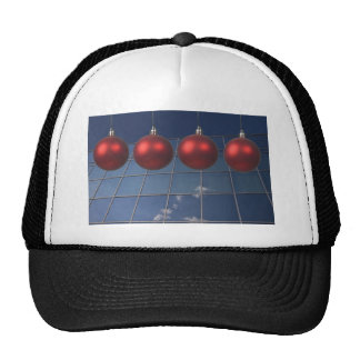 corporate holiday greetings mesh hats