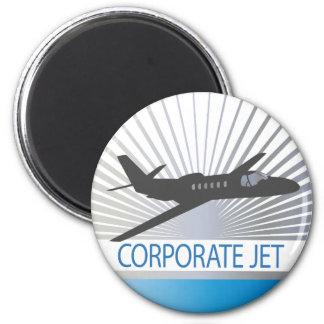 Corporate Jet Aircraft 6 Cm Round Magnet