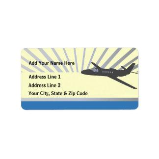 Corporate Jet Aircraft Address Label