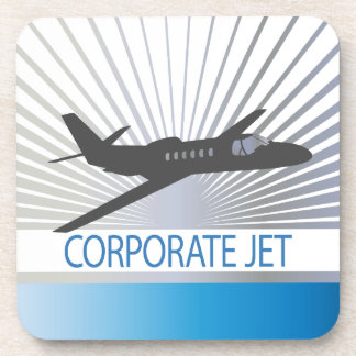 Corporate Jet Aircraft Beverage Coasters