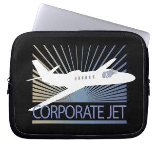 Corporate Jet Aircraft Computer Sleeve