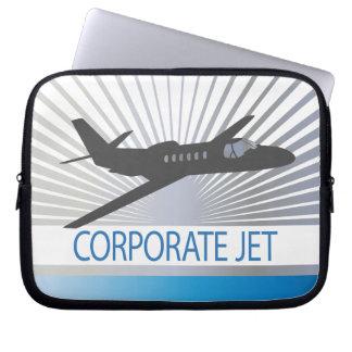 Corporate Jet Aircraft Laptop Computer Sleeve