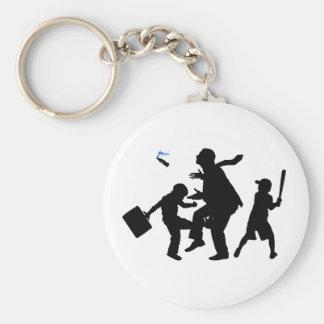 Corporate Kickback Basic Round Button Key Ring