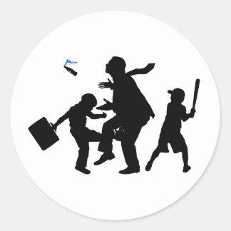 Corporate Kickback Round Sticker