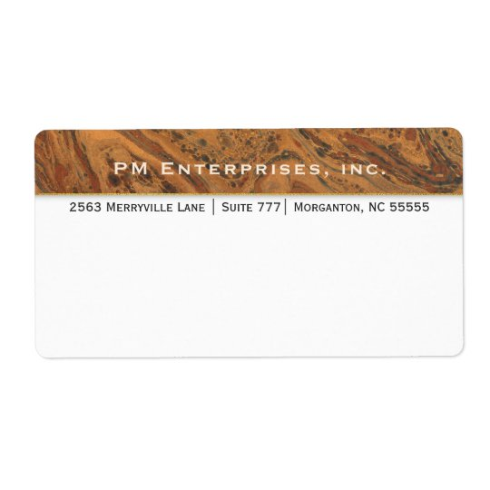 Corporate Marble Shipping Label