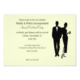 Corporate Party Black Tie 13 Cm X 18 Cm Invitation Card