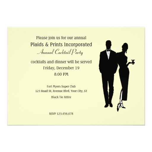 Corporate Party Black Tie Personalized Announcement