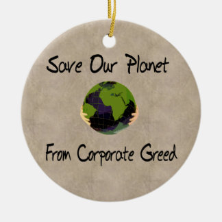 Corporate Planet Double-Sided Ceramic Round Christmas Ornament