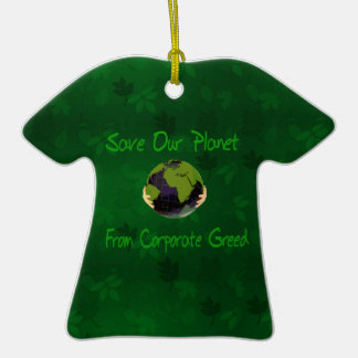 Corporate Planet Double-Sided T-Shirt Ceramic Christmas Ornament