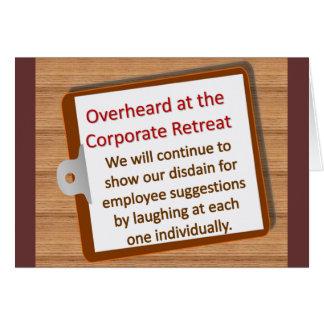 Corporate Retreat Note Card