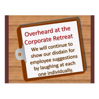 Corporate Retreat Postcard