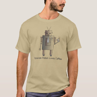 Corporate Robot Loves Coffee,Retro Vintage Robot T-Shirt