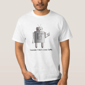 Corporate Robot Loves Coffee, Vintage Retro Robot T-Shirt
