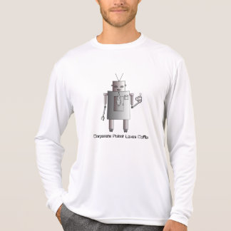 Corporate Robot Loves Coffee, Vintage Retro Robot Tee Shirt