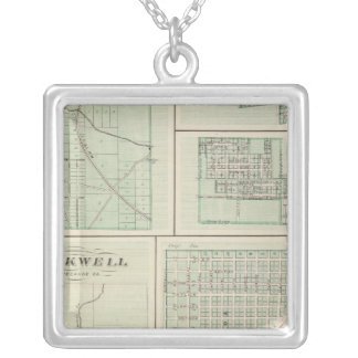 Corporate Town of Fowler, Benton Co Silver Plated Necklace