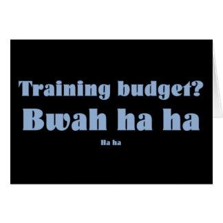 Corporate Training Budget Card