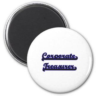 Corporate Treasurer Classic Job Design 6 Cm Round Magnet