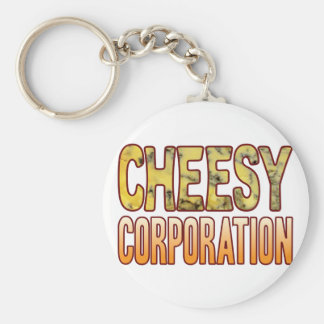 Corporation Blue Cheesy Key Ring
