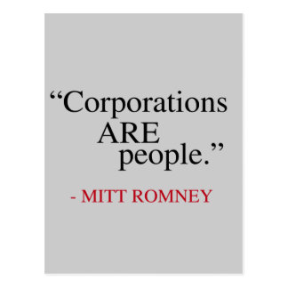 Corporations are People Post Cards