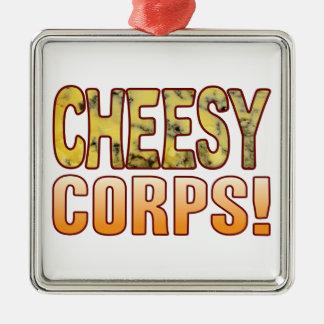 Corps Blue Cheesy Silver-Colored Square Decoration