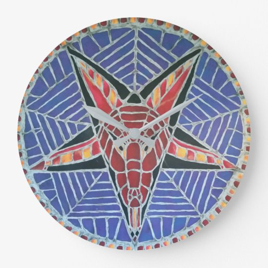 Corpsewood Baphomet Wall clock with grey hands